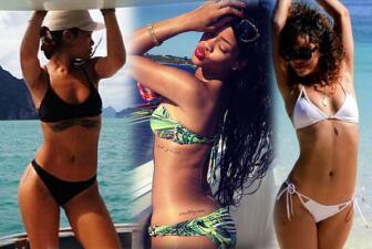 Los 35 bikinazos más ardientes de Rihanna