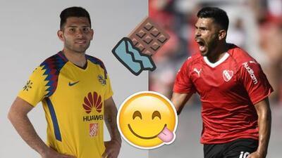 """'Chino' Romero llevó sus problemas de peso del América al Independiente: """"No como chocolates"""""""