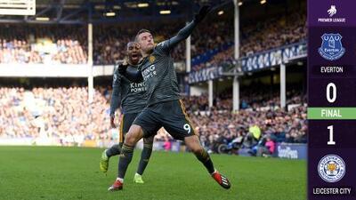 El Leicester inicia el año con el pie derecho y despacha en casa al Everton