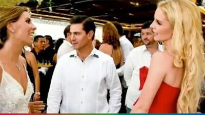 Peña Nieto asiste con su nueva novia a una boda