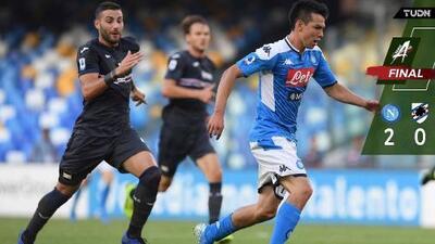 Gana Napoli ante Sampdoria con gran juego de 'Chucky' Lozano