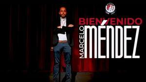 San Luis oficializa a Marcelo Méndez Russo como su técnico