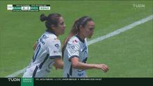 ¡Un 'regalito'! Dinora Garza aprovecha un error y marca el 1-2 de Pumas