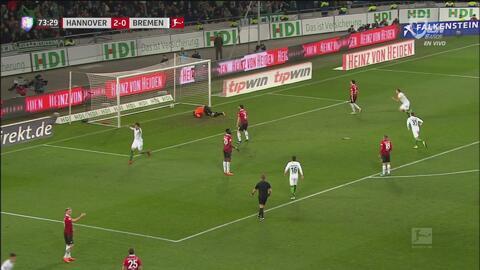 Werder Bremen descontó a través de Ishak Belfodil