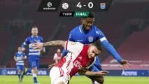 Edson Álvarez vio acción en la goleada del Ajax