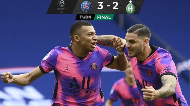 PSG rescata agónico triunfo y se acerca al líder Lille