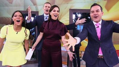 Nuestros presentadores comprobaron el poder de un saludo con energía usando esta técnica del espejo