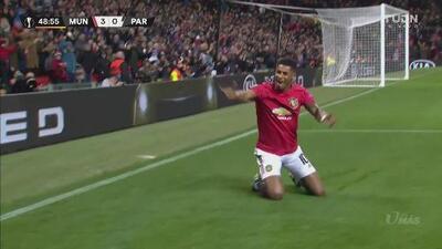 Marcus Rashford firma la goleada del Manchester United