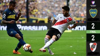 ¡La raya fue diagonal! River Plate le arranca un empate 2-2 a Boca Juniors en La Bombonera