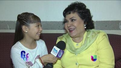 Monserrat 'Telesa' Garcia debutó como la nueva reportera de El Gordo y La Flaca