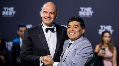 """Diego Maradona cumple su sueño y trabajará con una FIFA """"limpia y transparente"""""""