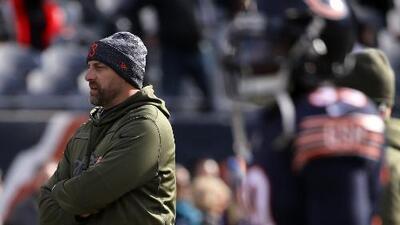 El alcalde de Chicago, Rahm Emanuel, felicitó a Matt Nagy, entrenador de los Chicago Bears