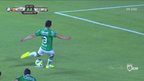Ángel Mena hizo el 2-2 entre León y Morelia de penal