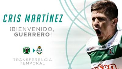 Santos Laguna cerró la contratación del chileno Cris Robert Martínez