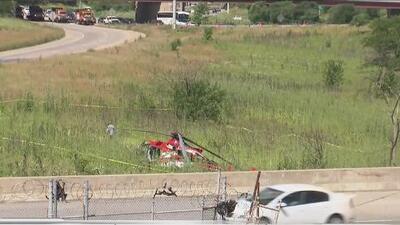 Un helicóptero médico se desploma en una concurrida autopista del sur de Chicago