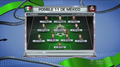 Posible alineación de México vs. Canadá