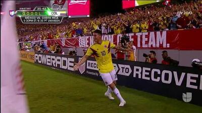 ¡GOOOL! James Rodríguez anota para Colombia