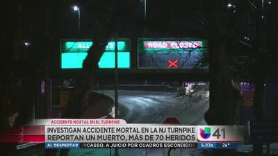 Accidente mortal en la NJ Turnpike