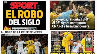 ¿Robo o penalti?: la prensa española debate por el pase del Real Madrid en Champions