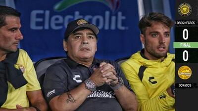 A Dorados de Maradona se le olvidó ganar