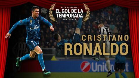 La chilena de Cristiano fue escogida como mejor gol de la temporada por la UEFA
