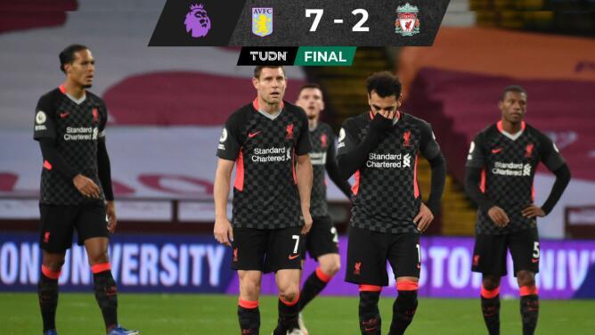 Liverpool sufre humillante goleada de 7-2 ante Aston Villa