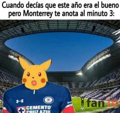 Memelogía: luego de perder 1-0 contra Monterrey, a Cruz Azul le llovió con todo