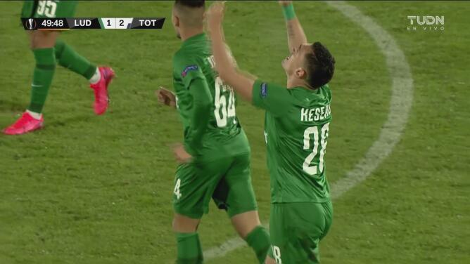 ¡Ludogorets tiene vida! Claudiu Keserü recorta 1-2 el marcador