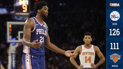 ¡Caída libre! Los 76ers le propinan a los Knicks su derrota 18 en fila