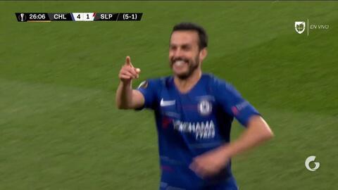 ¡GOOOL! Pedro anota para Chelsea