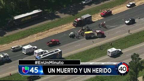 En Un Minuto Houston: Una persona murió en la escena de un choque entre un autobús y un auto