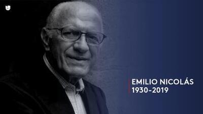 Muere Emilio Nicolás, pionero de la televisión hispana en Estados Unidos
