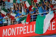 Soccer Football - Women's World Cup - Round of 16 - Italy v China - Stade de La Mosson, Montpellier, France - June 25, 2019 Italy fans inside the stadium before the match REUTERS/Jean-Paul Pelissier