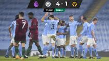 Manchester City vence a los Wolves y suma 21 triunfos al hilo