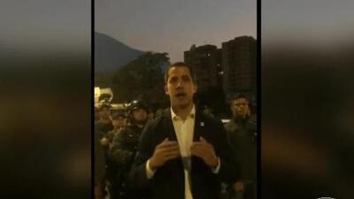 """""""El cese definitivo de la usurpación empezó hoy"""", afirma Juan Guaidó y llama al comienzo de la 'Operación Libertad'"""