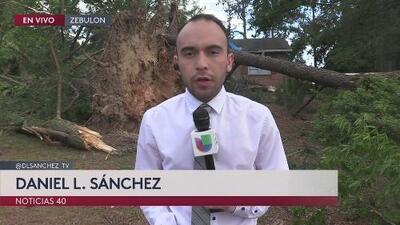 Afectaciones en viviendas y vehículos por tornados