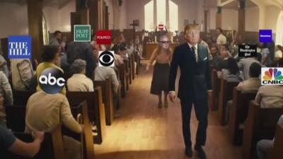 La Casa Blanca condena videomontaje en el que aparece Trump disparando contra medios y críticos de su gobierno