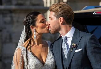 Sergio Ramos se casó con la presentadora Pilar Rubio en la catedral de Sevilla