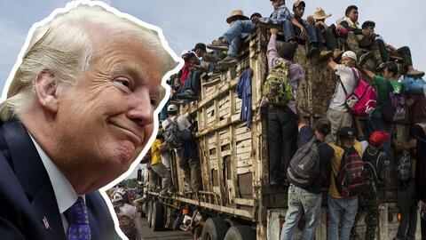 Trump decide cerrar la frontera ante la caravana que viene en camino