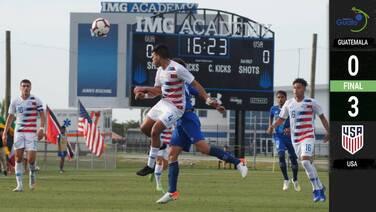Estados Unidos venció a Guatemala y cerró la etapa de grupos con paso perfecto