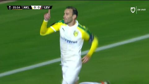 ¡GOOOL! David Catalá anota para AEK Larnaka