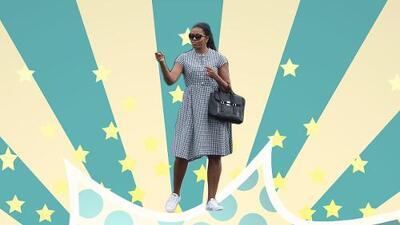 Michelle Obama en Converse, y la moda de llevar vestido con tenis