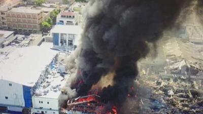 Emergencia en República Dominicana por fuerte explosión en una fábrica de plásticos