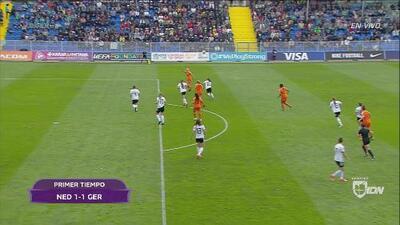 Holanda y Alemania se van al descanso con un 1-1 en el marcador