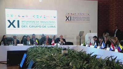 El Grupo de Lima está a favor de un camino diplomático para resolver la crisis en Venezuela