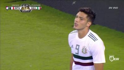 Tiro desviado de Raúl Jiménez