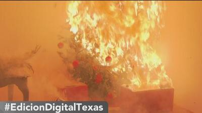 Recomendaciones para evitar incendios con árboles de Navidad