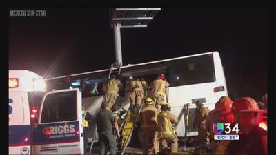 Accidente mortal de autobús de pasajeros en California