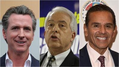 Encuesta indica que Newsom, Cox y Villaraigosa puntean en la intención de voto para la gobernación de California
