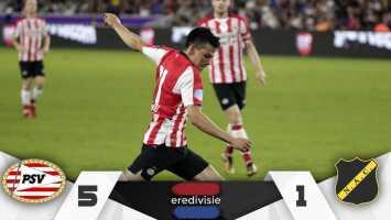 'Chucky' vuelve a la actividad y el PSV goleó por marcador de 5-1 al NAC Breda